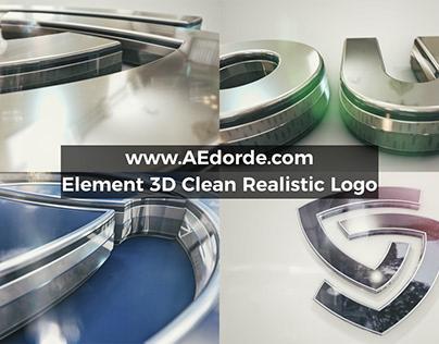 Element 3D Clean Realistic Logo