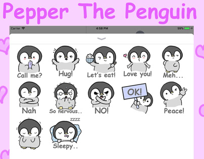 Pepper The Penguin IMessage Sticker Pack