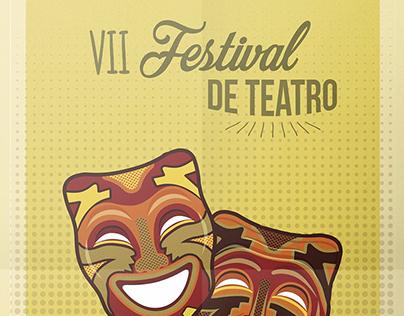 Póster festival de teatro
