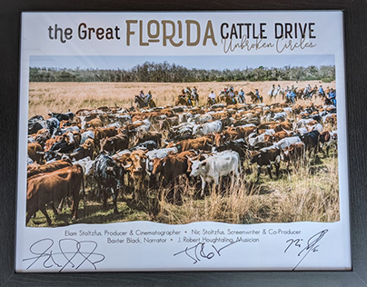Great Florida Cattle Drive Signed Poster