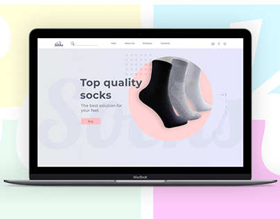 Landing page. Socks for sale