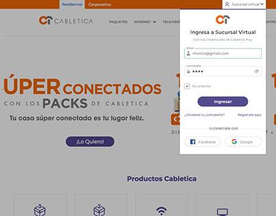 Login Cabletica - 2019