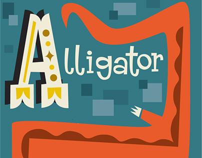 Animal Alphabet-Alligator