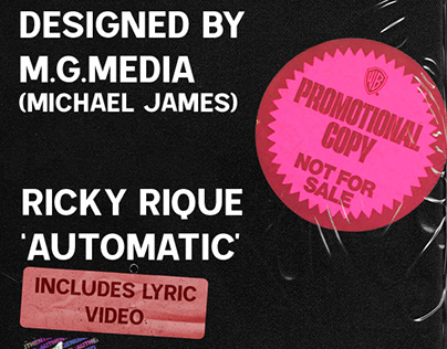 'Automatic' Cover art & Lyric Video by Michael James