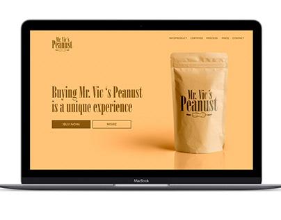 Brand Design Mr Vics Peanust / USA