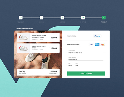 Daily UI Challenge #002 - Credit card checkout