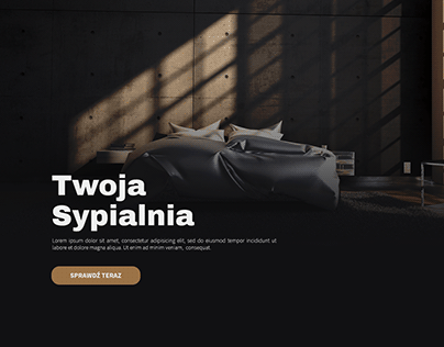 Twoja Sypialnia - UI design