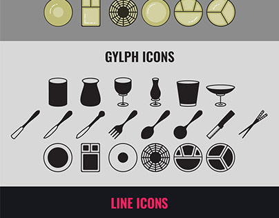 Cutlery and Crockery Icon Set