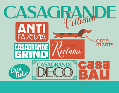 A font collection for illustrators and poster designers