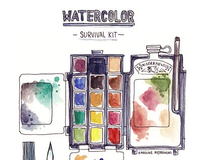 Watercolor Survival Kit