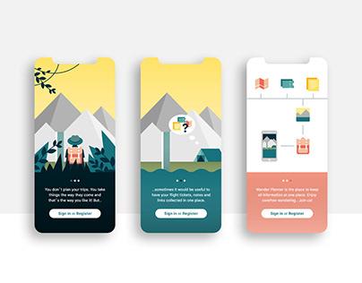 Wander Planner app concept