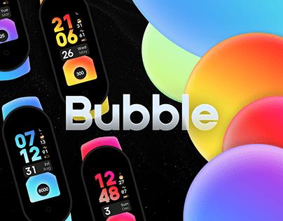 Bubble—Dynamic Mi Band 4/5 Watchface