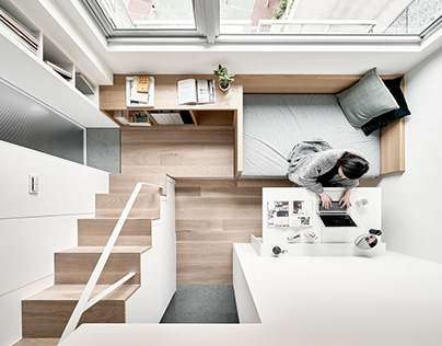 A Little Design | 17.6-square-metre flat