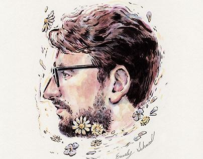 A Man in Flowers