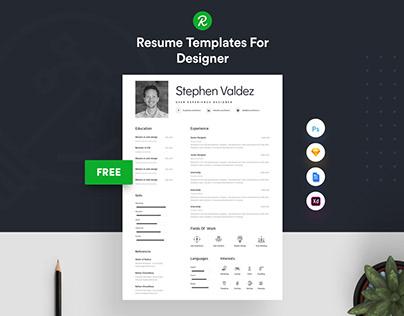 Free Sketch & PSD Resume Template