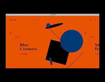 Super Shape WebSite Concept Design