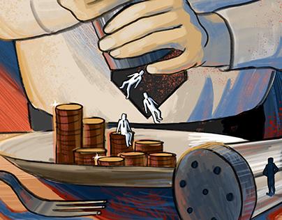 Beating Bias - Editorial Illustration