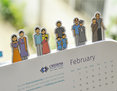 Paper Cut Desk Calendar
