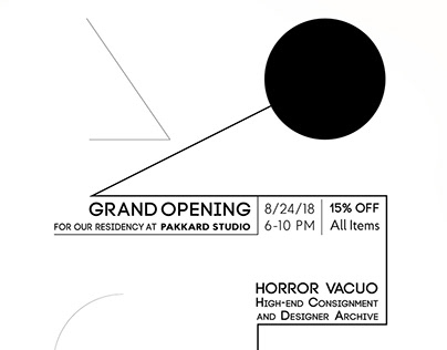 Design Work and Popups for /with Horror Vacuo