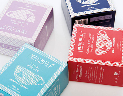 Teas & Infusions Blue Hill Packaging Design