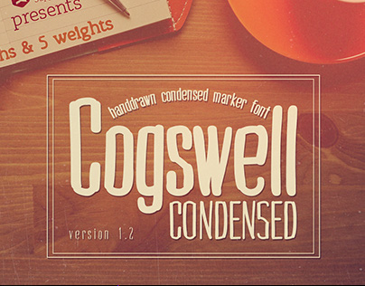 Cogswell Condensed | handdrawn font