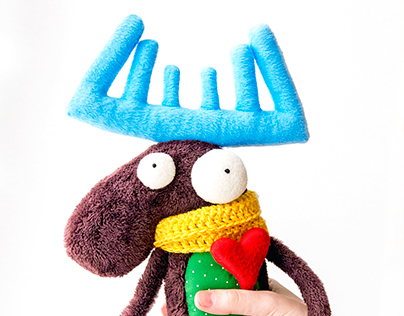 Charming moose, soft toy