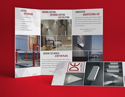 Tri Fold Brochure for LED lightings manufacturer