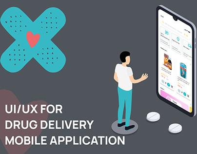 UI/UX for Drug delivery mobile app