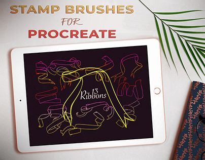 Ribbons - Stamp brushes for Procreate