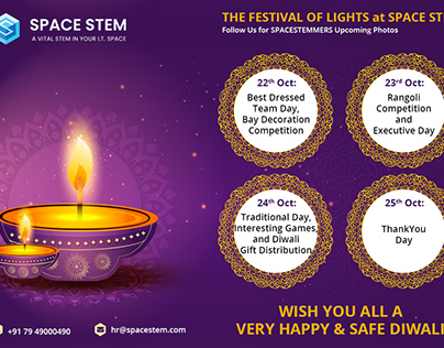 THE FESTIVAL OF LIGHTS at SPACE STEM.