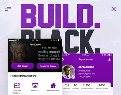 BUILD BLACK - Public IOS App UX/UI