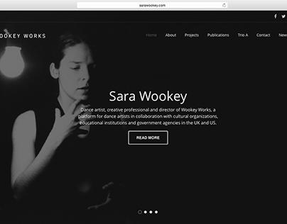 Web design for a dance artist