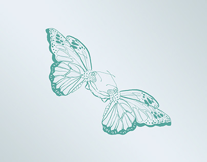 Ilustración digital mariposas.