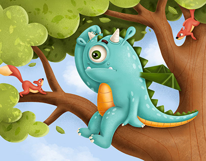 Draggy the Dragon. Book illustration.