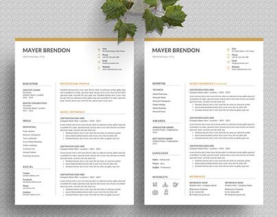 Word Resume/CV - 4 set