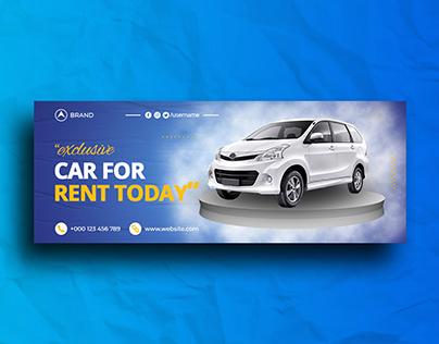 Rent A Car Facebook Cover Template