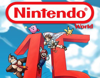 Editorial Illustration works for Nintendo World