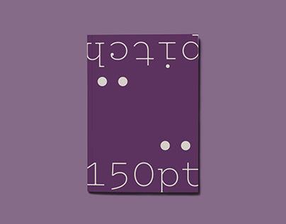 Pitch / Typeface Specimen Booklet