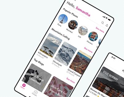 iOS presentation for HerTrip App