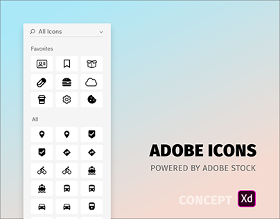 Adobe Icons Concept for Adobe XD