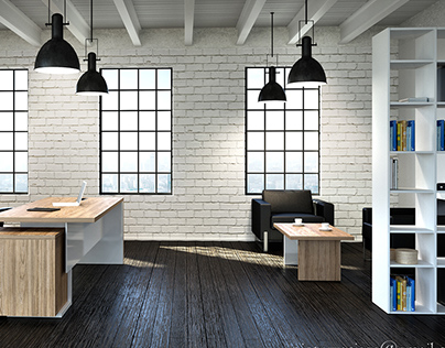 3D visualization of office furniture