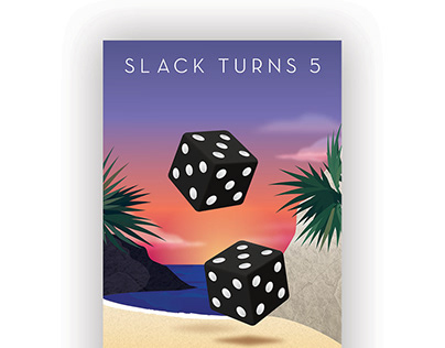 Slack's 5th Anniversary Party Poster