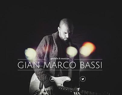 Gian Marco Bassi // Website