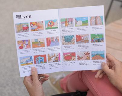 Illustrations pour carnet de voyage LYON pour enfants
