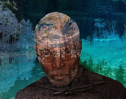 Collaged Self-Portrait: Earth Man