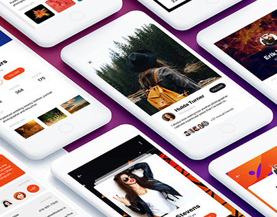 Profile Mobile UI Kit