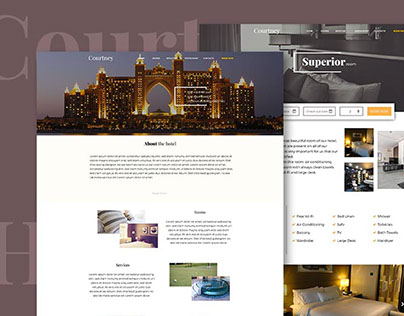 Courtney Hotel Website project