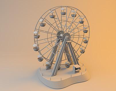 ferris wheel in cinema 4d