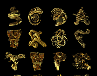 36 Days of Type 2017 – Golden Alphabet
