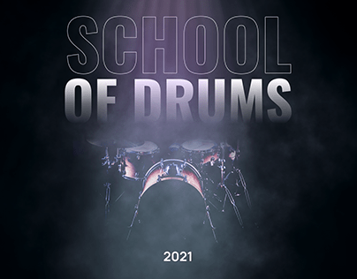 School of drums. Landing page design